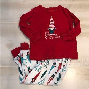 Gymboree Christmas Gnome Holidays Pajamas 18-24 M